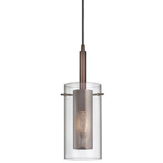 1-light Oil-rubbed Bronze/ Clear Glass Pendant