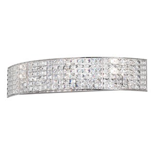 4-light Polished Chrome/ Crystal Vanity Fixture