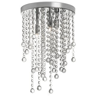Cynthia 3-light Polished Chrome Crystal Semi Flush Mount