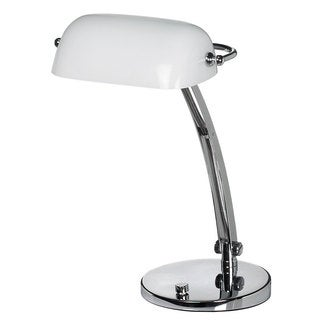 Dainolite Bankers White Desk Lamp