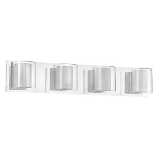 Dainolite 4-light Double Glass Vanity Fixture