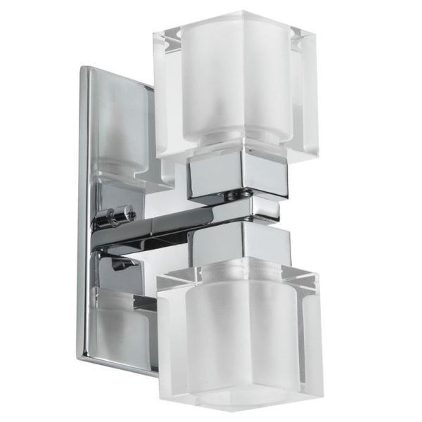 Dainolite 2-light Crystal Cube Wall Sconce