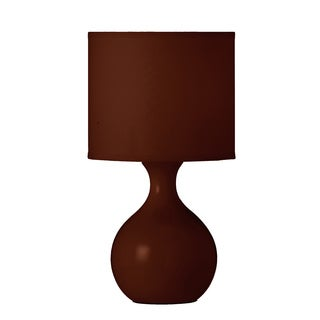 Coffee Brown Painted Ceramic Tone-on-Tone Table Lamp
