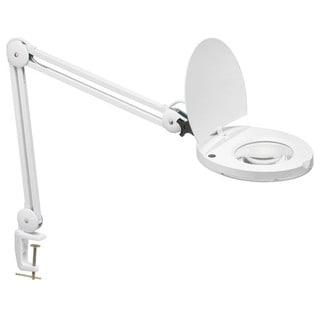Glossy White Fluorescent 5D Lens Magnifier Lamp