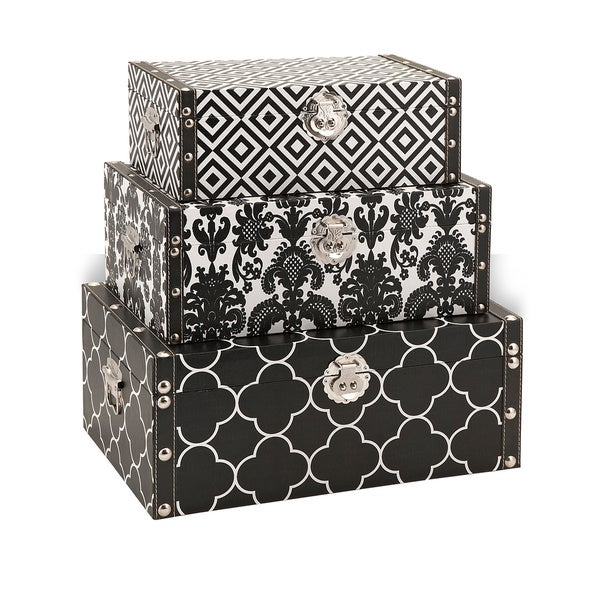 Essentials Black Storage Boxes