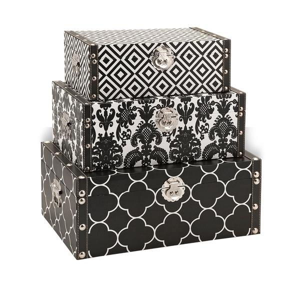 Essentials Black Storage Boxes
