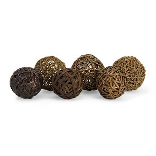 Worren Natural Wrapped Balls (Set of 6)