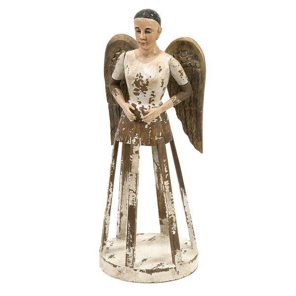 Emelda Small Handcarved Wood Angel Santos