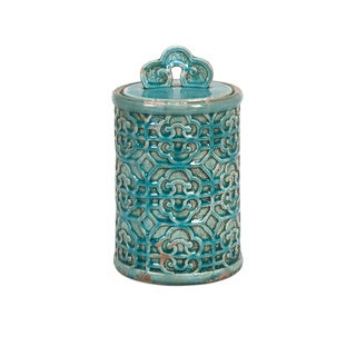 Kendall Teal Medium Canister