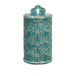 Kendall Large Teal Ceramic Canister