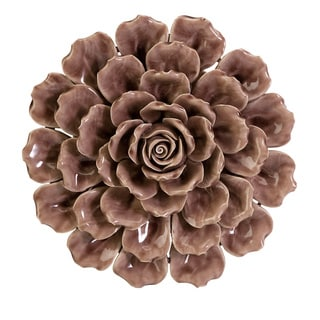 Magdalyn Mauve Ceramic Flower Wall Decor