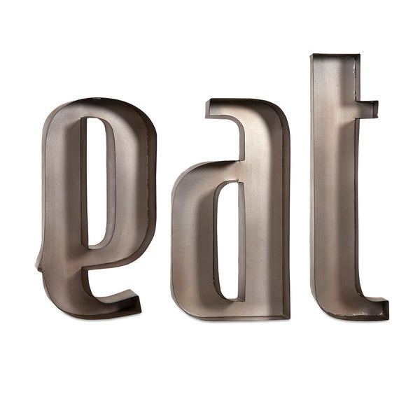 Wall Decor Metal Numbers : Eat iron metal wall decor letters  overstock