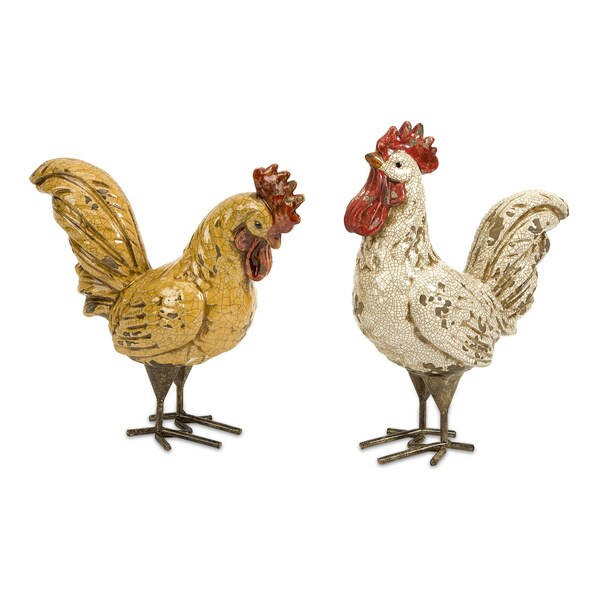 Parson Roosters Accent Pieces (Set of 2)