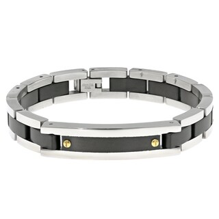 Stainless Steel Multi Ion-plated Link Bracelet