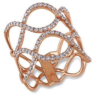 Miadora Signature Collection 14k Rose Gold 4/5ct TDW Diamond Infinity Ring (G-H, I1-I2)