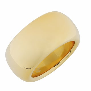 Oro Forte 14k Yellow Gold 11.5-mm High Polish Bold Band Ring
