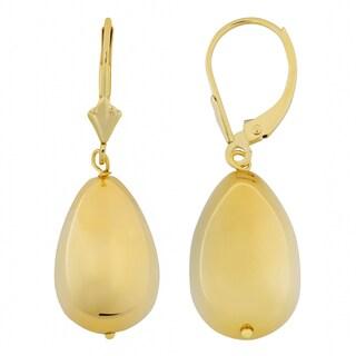 Oro Forte 14k Yellow Gold High Polished Teardrop Earrings