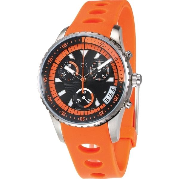Calvin Klein Men's K3217275 Chronograph Orange Watch