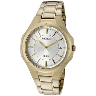 Seiko Men's SGEF64 Classic Gioldtone Watch