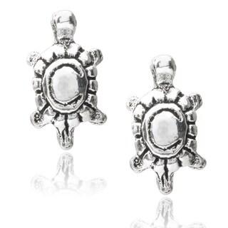 Journee Collection Sterling Silver Turtle Stud Earrings