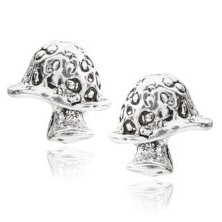 Journee Collection Sterling Silver Mushroom Stud Earrings