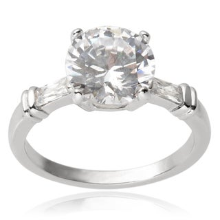 Tressa Collection Sterling Silver Cubic Zirconia Engagement Ring