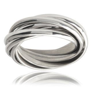 Journee Collection Stainless Steel Ring