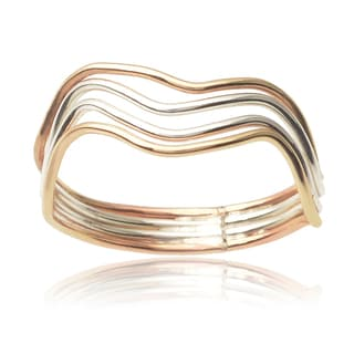 Journee Collection Sterling Silver Handcrafted Multi-band Ring