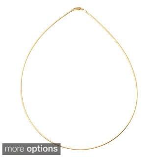 Tressa Sterling Silver 2 mm Italian Round Omega Chain Necklace