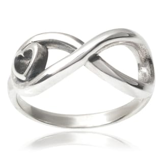 Tressa Collection Sterling Silver Infinity Heart Ring