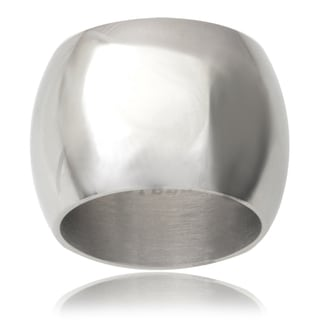 Journee Collection Sterling Silver Domed Band