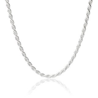 Tressa Sterling Silver 1 mm Italian Rope Chain Necklace