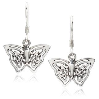 Journee Collection Sterling Silver Butterfly Dangle Earrings