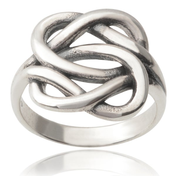 Journee Collection Sterling Silver Knot Ring