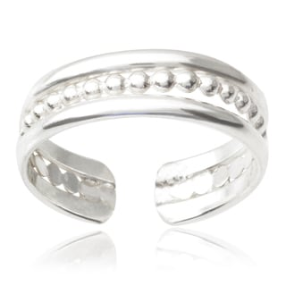 Tressa Collection Sterling Silver Handcrafted Adjustable Toe Ring