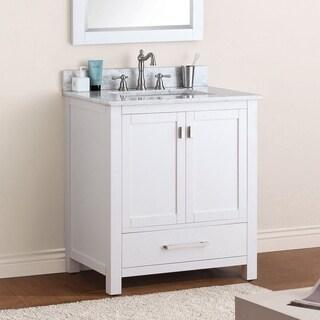 Avanity Modero 30-inch White Finish Vanity Combo