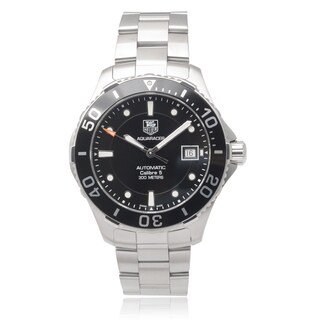 Tag Heuer Men's Stainless Steel 'Aquaracer' Automatic Link Watch