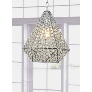 Francisca Crystal and Chrome 1-light Chandelier
