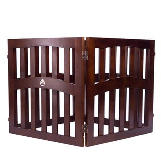 Pansy Convertible 4-panel Wooden Pet Gate by Elegant Home Fashions
