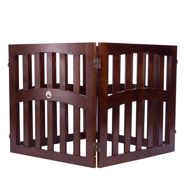 Pansy Convertible 4-panel Wooden Pet Gate