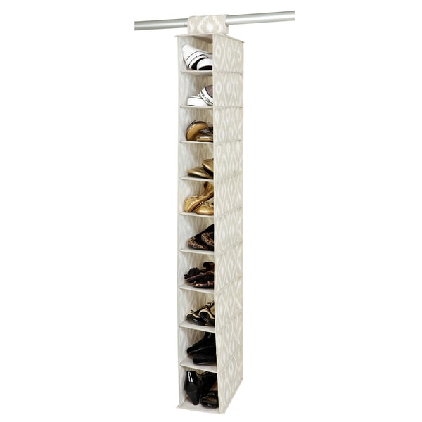The Macbeth Collection India Faux Jute 10-shelf Shoe Organizer
