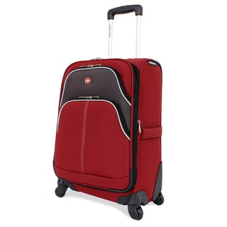 SwissGear Red 20-inch Pilot Case Spinner Upright Suitcase