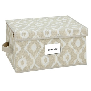 The Macbeth Collection India Faux Jute Medium Zippered Storage Box