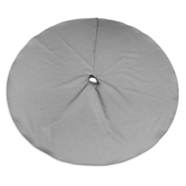 Shimmer Silver 51-inch Round Hemmed Tree Skirt