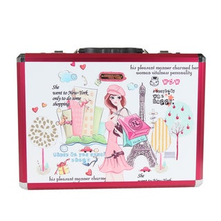Nicole Lee Shopping Girl Print Aluminium Briefcase