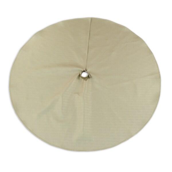 Shimmer Gold 51-inch Round Hemmed Tree Skirt