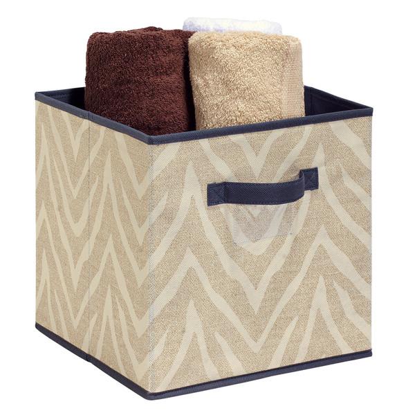 The Macbeth Collection Natural Zebra Storage Cube