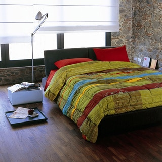 Bassetti 'Hoggar V1' Multicolored Stripes Italian Cotton Comforter