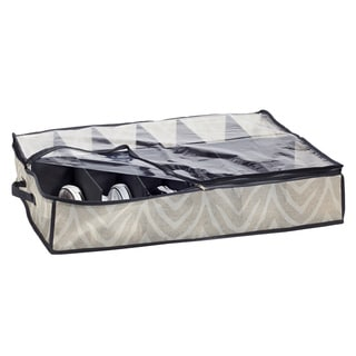 The Macbeth Collection Natural Zebra Under-the-Bed Shoe Box