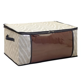 The Macbeth Collection Natural Zebra Blanket Bag